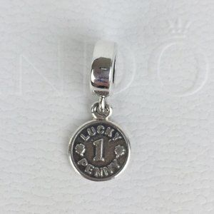 Authentic Pandora Lucky Penny Reversible Charm